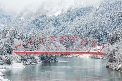 Fototapeta Krajobraz zimowy Japonia