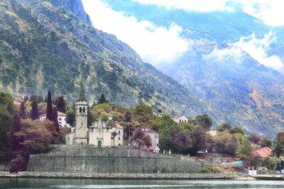 Fototapeta krajobrazu miejskiego w Europie dachowych górach