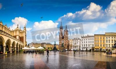 Fototapeta Kraków - historyczne centrum Polski, miasto z dawnej architektury.