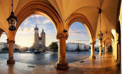 Fototapeta Kraków o świcie, Polska.