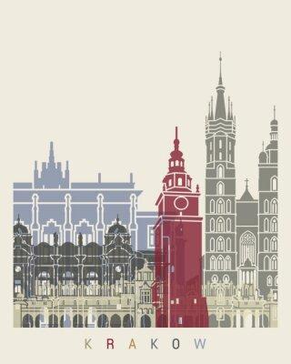 Fototapeta Kraków Skyline Plakat