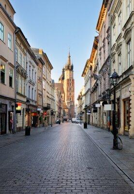 Fototapeta Kraków ulica do katedry, Polska