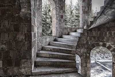 Fototapeta Kręcone schody ze stopniami