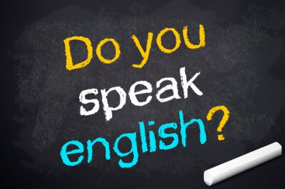 Fototapeta Kreidetafel mit Czy mówisz po angielsku?