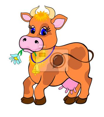 Kreskówka krowa