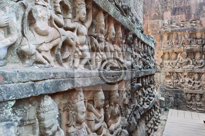 Król leper taras. Angkor Thom. Kambodża