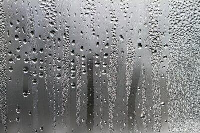 Fototapeta Krople wody na powierzchni szkła