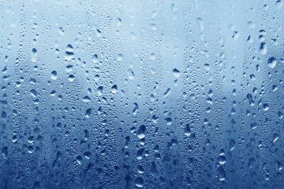 Fototapeta Krople wody na szkle