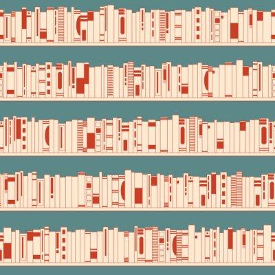 Fototapeta książki w księgarni na półkach równoległych