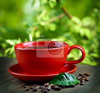 kubek świeżej kawy