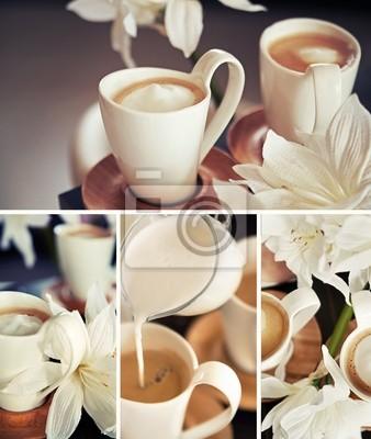 Kubki do kawy z kwiatami