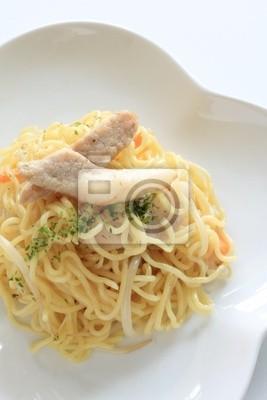 Fototapeta Kuchnia Azjatycka Smażony Makaron Z Wieprzowiną I Warzywami 24900010