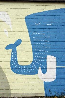 Fototapeta künstlerisches Graffiti am Kölner Zoo