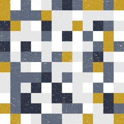 Fototapeta Kwadratów mozaiki geometryczne wektor wzór.