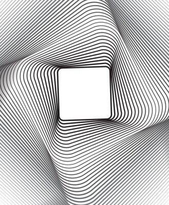 Fototapeta kwadratowe optyczne sztuki czarnym tle