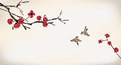 Fototapeta kwiat malarstwo