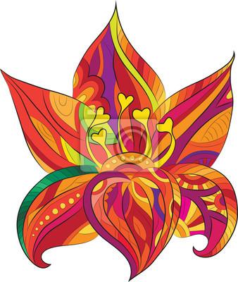 Kolorowy kwiat