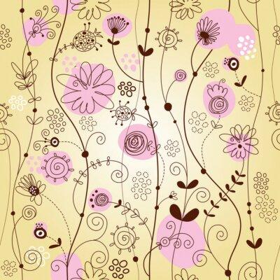 Fototapeta kwiatów w tle