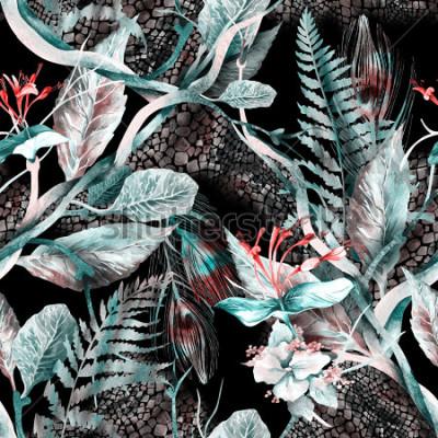 Fototapeta Kwiatowy wzór bez szwu