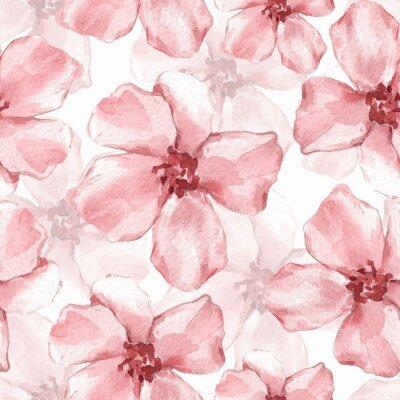 Fototapeta Kwiatowy wzór. Tło akwarela z delikatnymi kwiatami 6