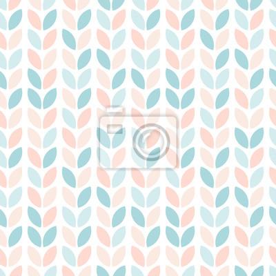 Kwiatowy wzór w stylu skandynawskim. Streszczenie geometryczne liście w pastelowych kolorach. Tapeta wektor