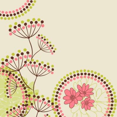 Fototapeta Kwiaty abstrakcyjna tła z miejsca na tekst