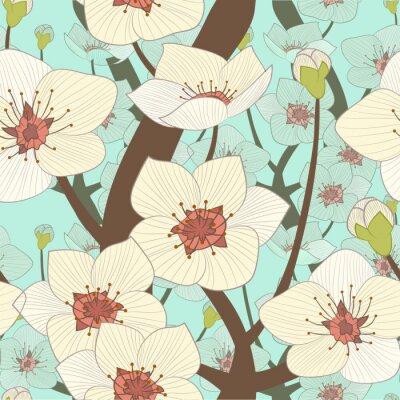 Fototapeta kwitnące drzewo