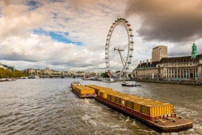 Fototapeta La Tamise à Londres, Royaume Uni