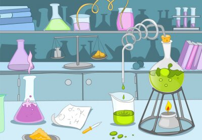 Fototapeta laboratorium chemiczne