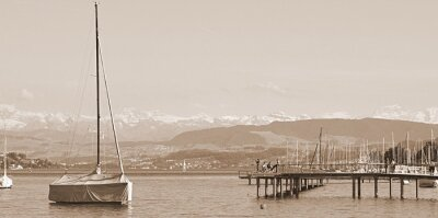 Fototapeta lac de Zurich