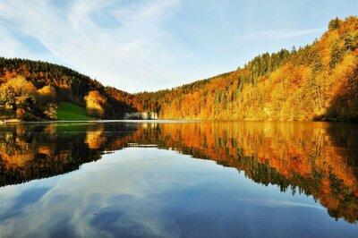 Fototapeta Lac des Brenets Automne.