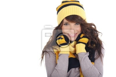 Fototapeta ładna dziewczyna zima
