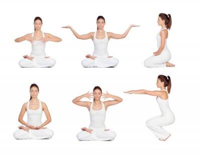 Fototapeta Ładna kobieta robi joga