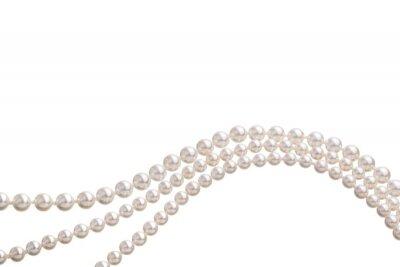 Fototapeta Łańcuchy z białych pereł stanowiące ozdobę