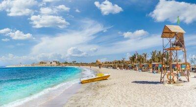 Fototapeta Landscape with beach in Abu Dabbab, Marsa Alam, Egypt