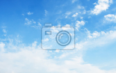 landscapes blue sky with white cloud and sunshine