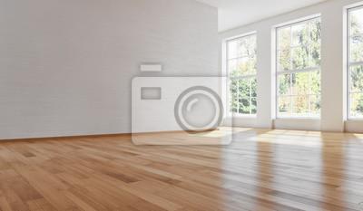 Fototapeta large luxury modern bright interiors room illustration 3D rendering