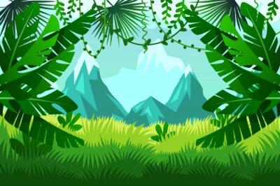 Fototapeta Las tropikalny. Wektor krajobrazu