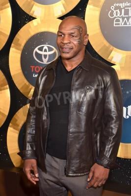 Fototapeta LAS VEGAS - NOV 07 : Professional boxer Mike Tyson attends the 2014 Soul Train Music Awards at the Orleans Arena on November 7, 2014 in Las Vegas, Nevada.
