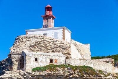 Fototapeta Latarnia morska La Madonetta. Port Bonifacio, Korsyka