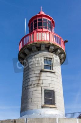 Fototapeta Latarnia morska w jednym z największych portów w Irleland, latarnia morska znajduje się na końcu molo w East
