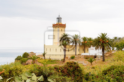 Fototapeta Latarnia Spartel z Tangeru, dużego miasta w północnym Maroku. Jest stolicą regionu Tanger-Tetouan-Al Hoceima i prowincji Tangier-Assilah w Maroku.