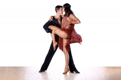 Fototapeta Latino tancerze w sali balowej