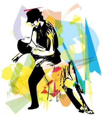 Fototapeta Latino Taniec para
