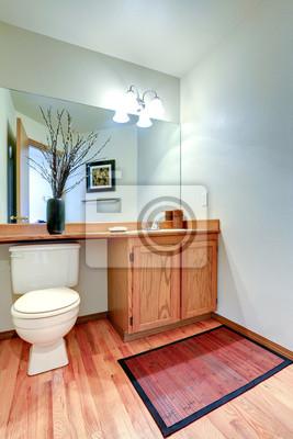 łazienka W łazience Szafka Z Blatem I Lustrem Fototapety Redro