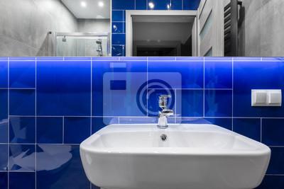 łazienka Z Krystalicznie Niebieskie Płytki Pomysł Fototapety Redro