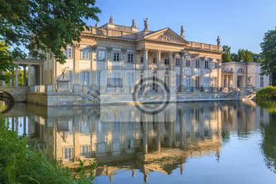 łazienki Królewskie W Warszawie Pałac Jeden Isle Na Północ Fototapety Redro
