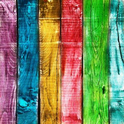 Fototapeta legno rocznika colorato