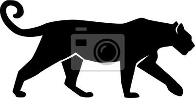 Fototapeta Leopard Sylwetka gepard pantera