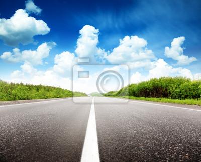 Fototapeta letni dzień i drogowych